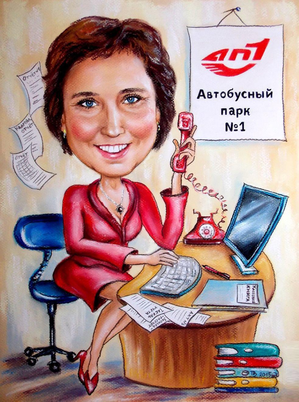 Шарж в офис на корпоратив